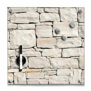 "GLAS MAGNETTAFEL "" Stone"" 40x40 SCHREIBTAFEL PINNWAND MAGNETBOARD MEMOBOARD"
