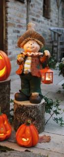 große Herbst Deko Figur, 51cm hoch, mit Metall Laterne für Teelicht, Halloween