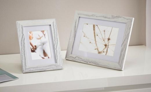 2er Set Bilder Rahmen in Marmor Optik grau, 9x13 + 10x18, mit Passepartout, Foto