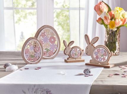 2er Set Holz Ei 'Bunte Blumen? Ostereier Osterdeko Ostern Deko Figur Tisch