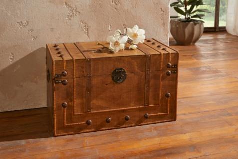 Deko Truhe 'Kolonial? aus Holz groß braun Aufbewahrung Kiste Box Korb Kasten