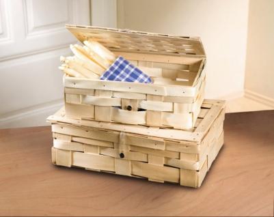 Präsent Korb aus Holz Span, Geschenk Flecht Wein Flaschen Aufbewahrungs Koffer