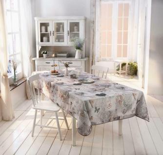 """Tischdecke """" Nostalgie"""" 148x240 grau, abwaschbar Lotus Effekt, Tisch Tuch Wäsche"""