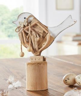 """Vogel """" Piepmatz"""" aus Treibholz, 20x23 cm, Holz Deko Figur Skulptur"""