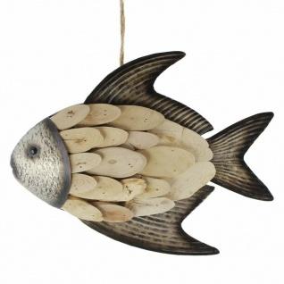 "Hänger ??Fisch"" aus Holz & Metall braun Deko Wand Tür Fenster Mobile Verzierung - Vorschau 2"