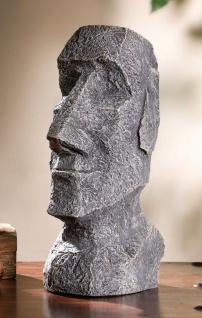 "Skulptur "" Osterinsel"" 36 cm hohe Deko Büste Kopf aus Fiber Glas in Stein Optik"