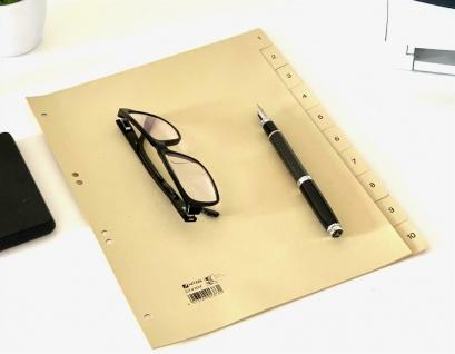50x HETZEL Papier Register chamois 10 tlg. Zahlen 1-10, A4 110 g/m² Trennblätter