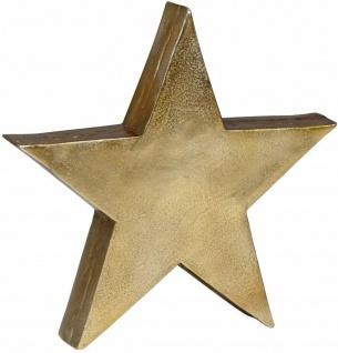 WL Wohnling Stern gold, Ø 40 cm, aus Alu, Tisch Deko Figur Skulptur, Handarbeit