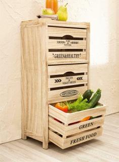 """Kommode """" Food Storage"""" aus Holz, Obst Gemüse Küchen Lager Regal Schrank Kiste"""