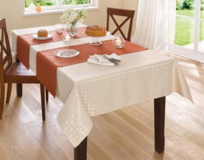 TischlÄufer Rost 2er Set Lotuseffekt Polyester Tischband Tischdecke TischwÄsche - Vorschau 1