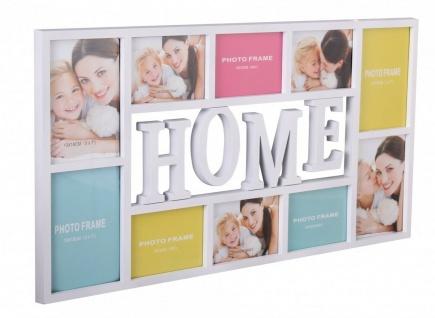 """WL Wohnling Bilder Rahmen """" Home"""" weiß, für 10 Fotos, Wand Multi Galerie Collage"""