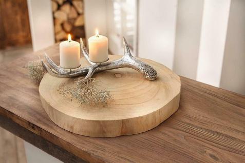 """Deko Scheibe """" Wood"""" Ø 40 cm Baumscheibe Holz Brett Tisch Servier Teller Platte"""