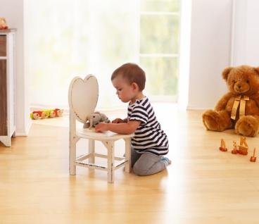 "Kinder Stuhl "" Herz"", Shabby Chic, aus Holz, Hocker mit Lehne Sitz Möbel"