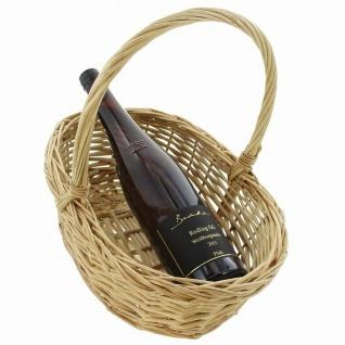 """Bügelkorb """" Naturweiß"""" aus Weide, Brot Obst Aufbewahrungs Geschenk Flecht Korb #1 - Vorschau 4"""