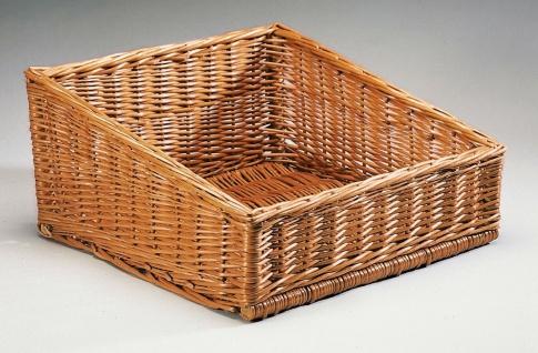 Brot Korb aus Weide, 45x45 cm, Servier Lager Buffet Auslage Regal Aufbewahrung