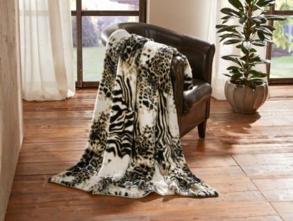Kuscheldecke 'Afrika? cremeweiß 130 x 150 cm Tages Wohn Sofa Couch Decke