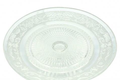 """Servier Platte """" Kristall"""" mit Glocke & Fuß, 20x19 cm, Speise Glocke Glas Haube - Vorschau 4"""