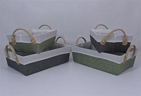 KESPER AUFBEWAHRUNGSBOX AUFBEWAHRUNGSKORB KISTE BOX KORB Pappe grau 28x17, 5x13, 5