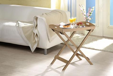 Tablett Tisch mit Gestell, Holz Design, Klapp Beistell Couch Servier Tee Tisch