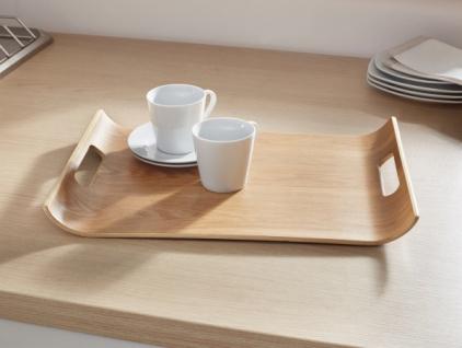 Tablett 'Wave? aus Bambus Tisch Beistell Couch Servier Tee