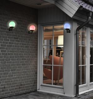 3x Solar Farbwechsel Wand Leuchte, Garten Balkon Aussen Wand Kugel Lampe