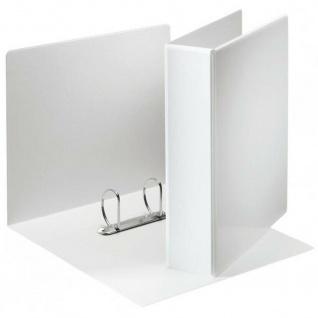 10 Stück Präsentations Ringbuch A4, 45mm, weiß, 2-Ring Ordner Mappe Hefter