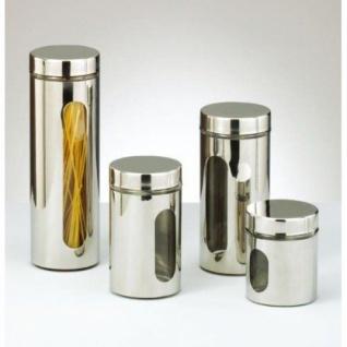 Zeller Glas + Metall + Chrom Vorratsdose 1500ml Neu VorratsbehÄlter Vorratsglas - Vorschau 2