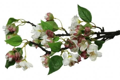 """2 Deko Zweige """" Kirschblüte"""", 48 cm hoch, Kunst Textil Pflanze Ast Blüte Frühling"""