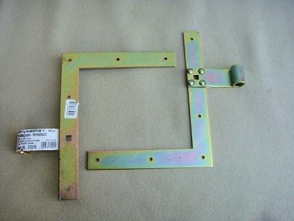 2 Stück Winkelband, 250x200 mm, Fenster Tür Laden Band Winkel Scharnier Bänder