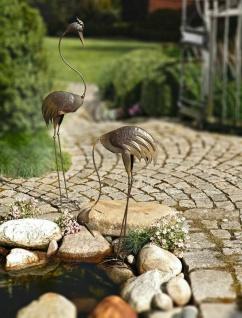 Metall Fischreiher groß, 108cm hoch, Reiher Schreck Garten Figur Vogel Skulptur