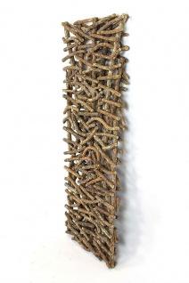 """Deko Objekt """" Rustikal"""" aus Rattan & Holz, Raumteiler Paravent Wand Bild Skulptur - Vorschau 4"""