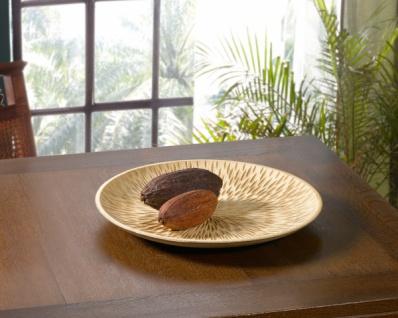 Deko Schale 'Struktur? aus Holz Obst Gebäck Brot Deko Tisch Servier