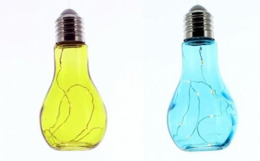 Glühbirne Deko 2er deko glühbirne farbleuchten glas grün blau leuchtdeko