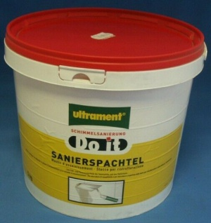 ULTRAMENT FÜLLSPACHTEL SANIERSPACHTEL ANTISCHIMMEL 5kg 0, 99€/1kg