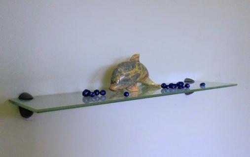 GLASREGAL CLARO 60x15 EDELSTAHL ALU HALTERUNG NEU WANDREGAL GLAS REGAL WANDBOARD