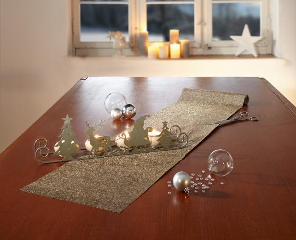 Teelichthalter Weihnachtsschlitten Kerzen Halter Stander Windlicht