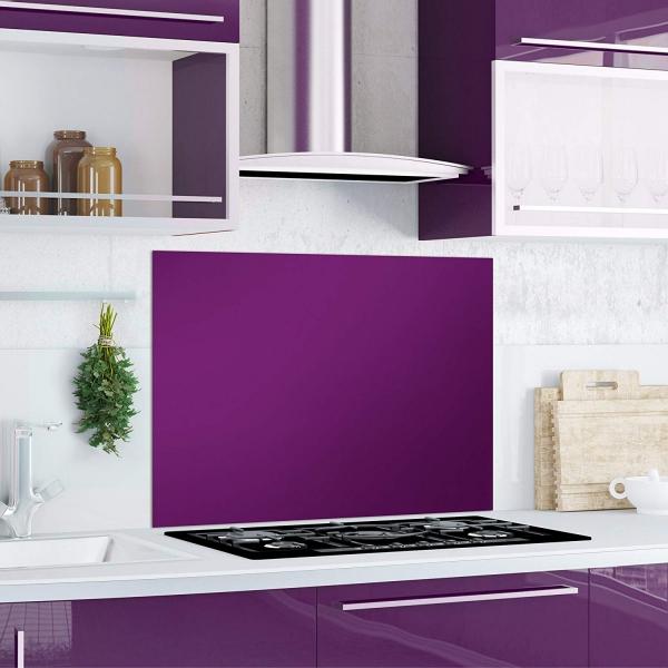 Kuchen Ruckwand Purple Splash Glas Lila 90x65 Herd Spule Spritz