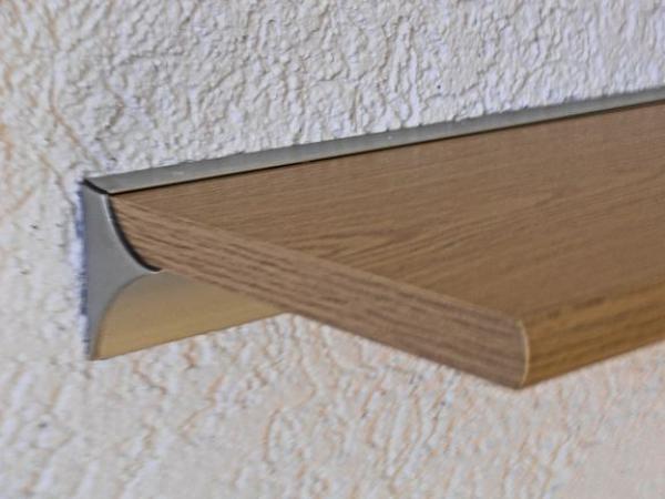 Wandregal Solido 120x20 Eiche Alu Wandschiene Wandboard Wand Regal