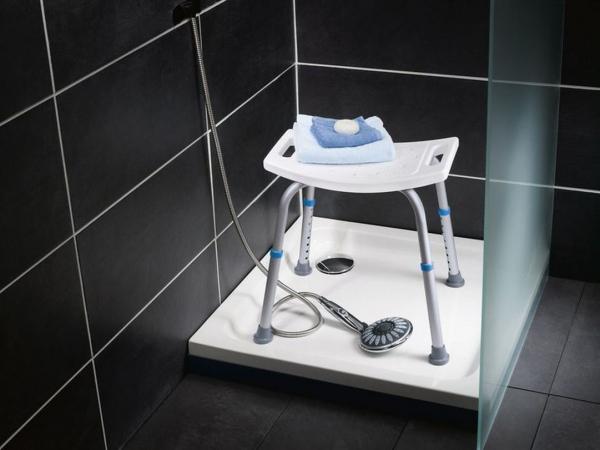 Duschhocker Bis 120 Kg Höhenverstellbar Bad Dusche Hocker Stuhl Sitz Hilfe