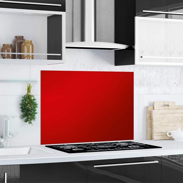 Kuchen Ruckwand Red Splash Aus Glas Rot 90x65 Herd Spule Spritz