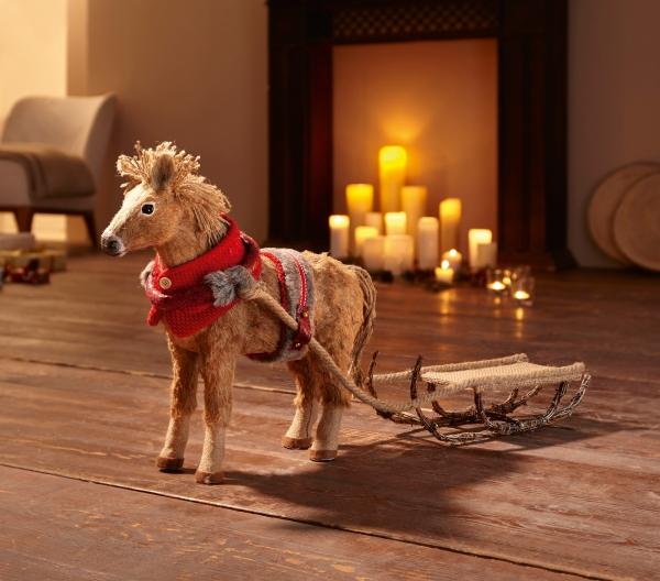 Figur Weihnachtspferd Mit Schlitten Weihnachten Weihnachtsdeko