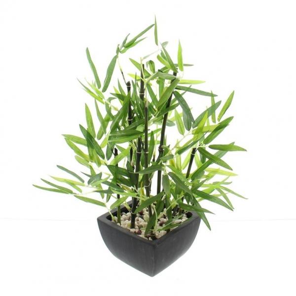 Deko Bambus Im Topf In Naturlichem Grun Kunststoff Kunstpflanze