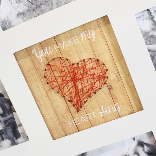 bilder rahmen 39 string heart halter holz foto galerie wand deko h nger kaufen bei come4buy gmbh. Black Bedroom Furniture Sets. Home Design Ideas