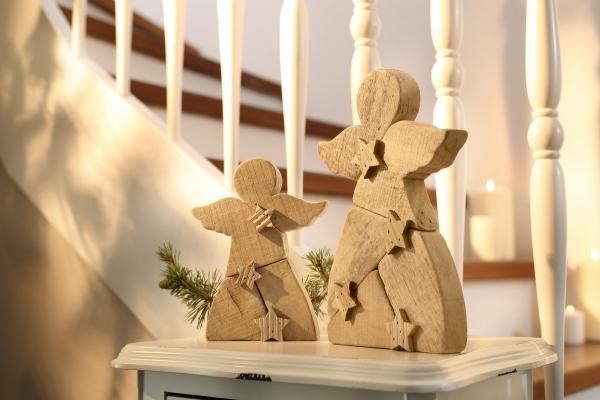 Holz Deko Weihnachten.Engel Sternchen Groß Holz Deko Statue Skulptur Weihnachten Weihnachtsdeko