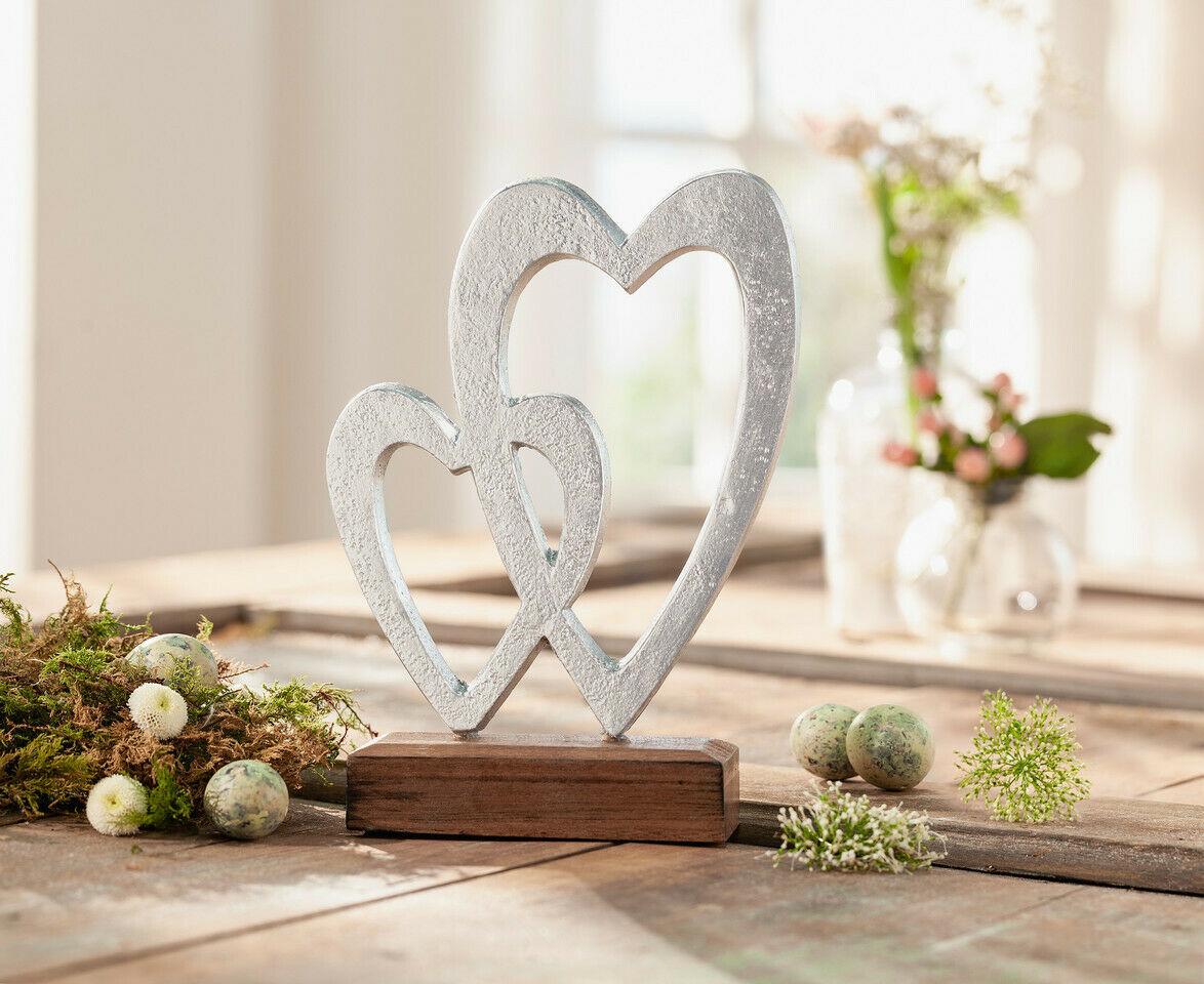 Deko Herz Metalloptik Aus Metall Holz Silber Figur Tisch Skulptur Modern Kaufen Bei Come4buy Gmbh