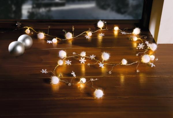 Led Lichterkette Weihnachten.Led Lichterkette Schneekugeln Für Innen Batterie Weihnachten X Mas Deko Kugel