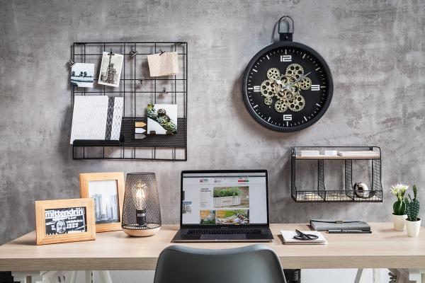 Metall Uhr \'Clock Work? Wand Deko Modern Küche Wohnzimmer batteriebetrieben  Büro