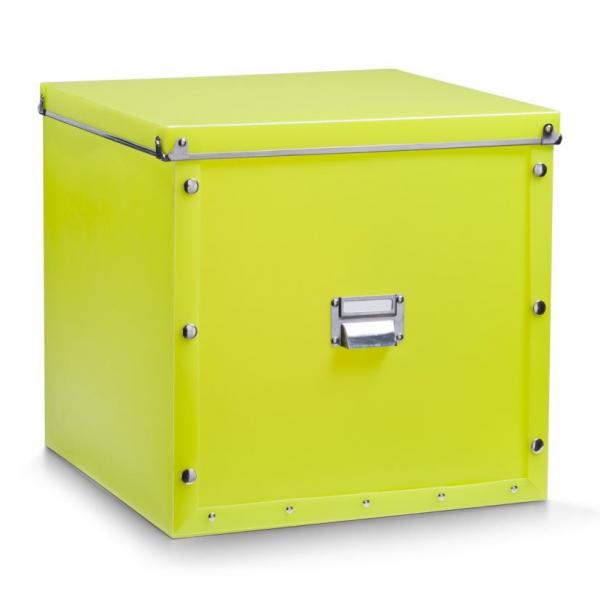zeller kunststoff aufbewahrungsbox mit deckel gr n 33. Black Bedroom Furniture Sets. Home Design Ideas