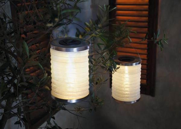 2er led set lampion solar garten balkon terrasse aussen. Black Bedroom Furniture Sets. Home Design Ideas