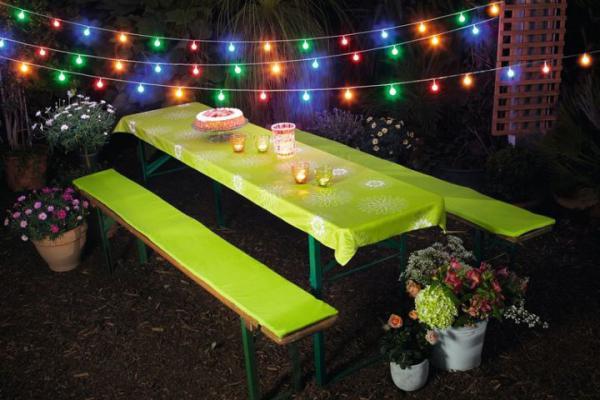 Led Lichterkette Party Time Bunt 9 5 M 50 Lichter Garten Aussen